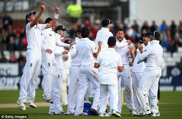Scenting blood: By the time Bresnan removed Shane Watson lbw, England were on their way to a famous victory