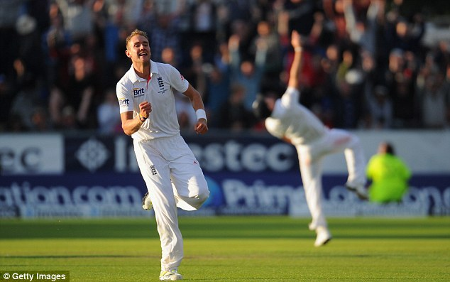 Casting his spell: Australia had no answer to Stuart Broad's electric six-wicket haul after tea
