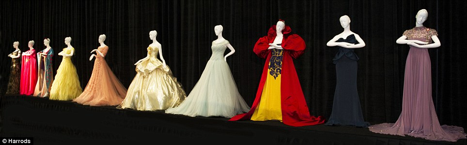 Unique designer dresses inspired by Disney's iconic princesses are to go under the hammer in aid of Great Ormond Street Hospital
