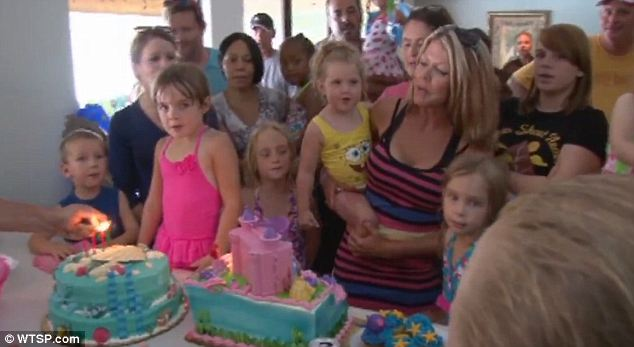 Memorable moment: The birthday was a highlight for the Nugent family who has had a particularly tough year