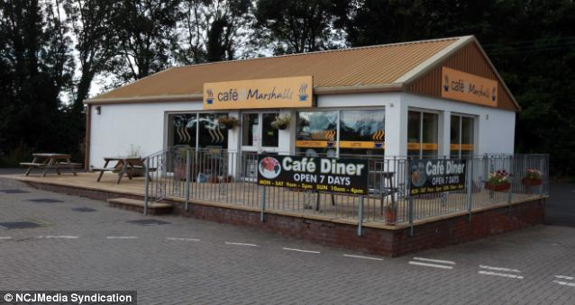 Hungry: The thieves broke into Cafe @Marshalls, in the early hours of Monday in an apparent attempt to steal some quiche sparking a five hour stand off with police