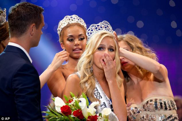 Shock: Cassidy Wolf, from California, was crowned as Miss Teen USA 2013 in the Bahamas