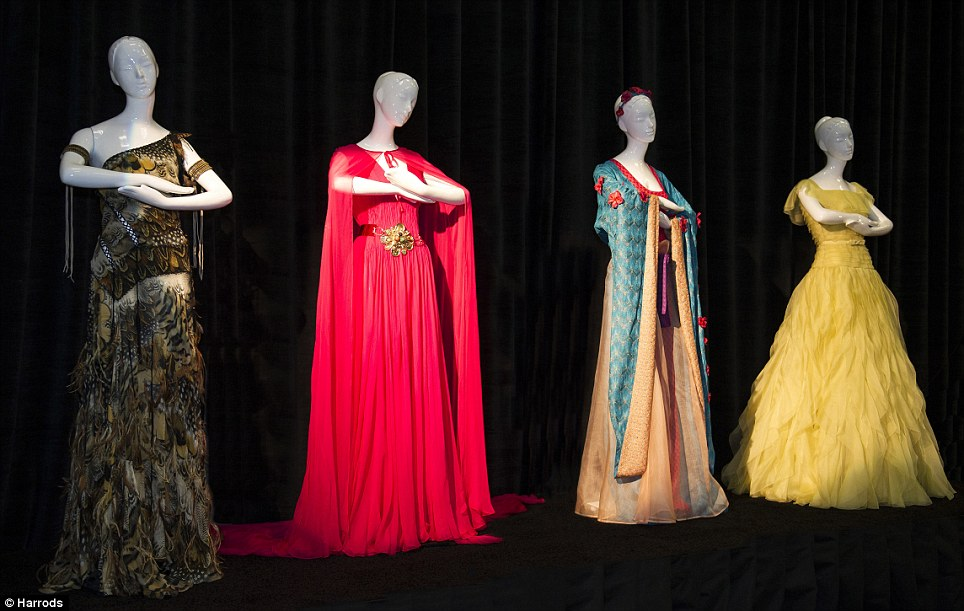 Each dress is an individual interpretation of a Disney Princess - paying tribute to the stories of Ariel, Aurora, Belle, Cinderella, Jasmine, Mulan, Pocahontas, Rapunzel, Snow White and Tiana