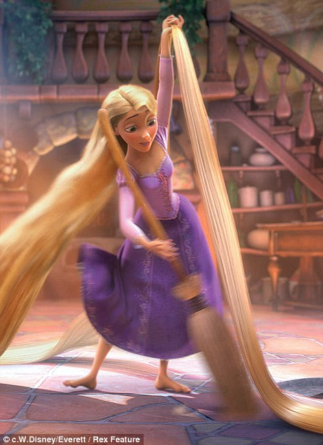 Rapunzel by Jenny Packham: The long-haired heroine is the star of Tangled, a 2010 American computer-animated film