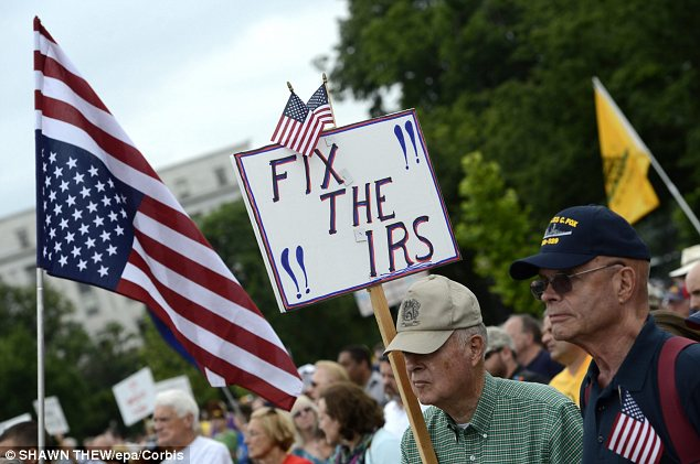 Tea party protesters have held dozens of rallies asking government officials to discipline IRS officials who targeted them for special scrutiny on the basis of political keywords in their groups' names