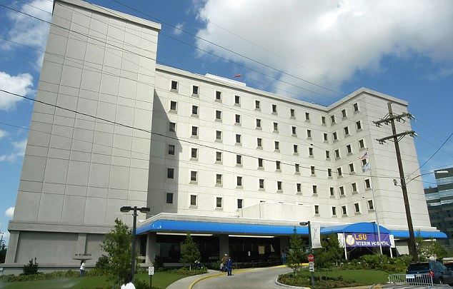 Untimely passing: The University Hospital in New Orleans where Gia passed away on Wednesday