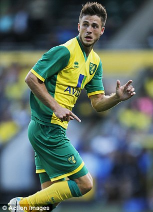 Much improved: Norwich have added Gary Hooper (left) and Ricky van Wolfswinkel to their forward line