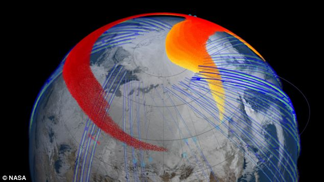 Satellite data from Nasa