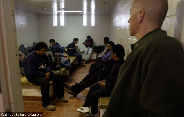 Short-term stay? In the American southwest, illegal immigrants fill detention centers to the point of bursting, and many convicted of serious crimes are being turned loose