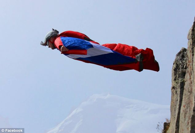 Taking to the sky: The British stunt diver in a previous stunt