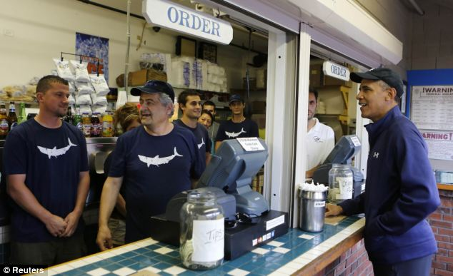 Obama has lunched at a few local restaurants. But on some parts of the island, employees now outnumber customers in what should be the high season for tourists