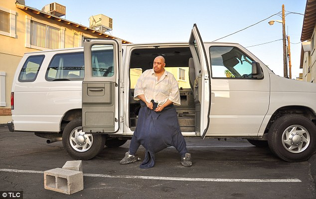 Before: Wesley Warren spent the past five years of his life with a freakishly huge scrotum - the result of a rare medical condition called scrotal lymphedema