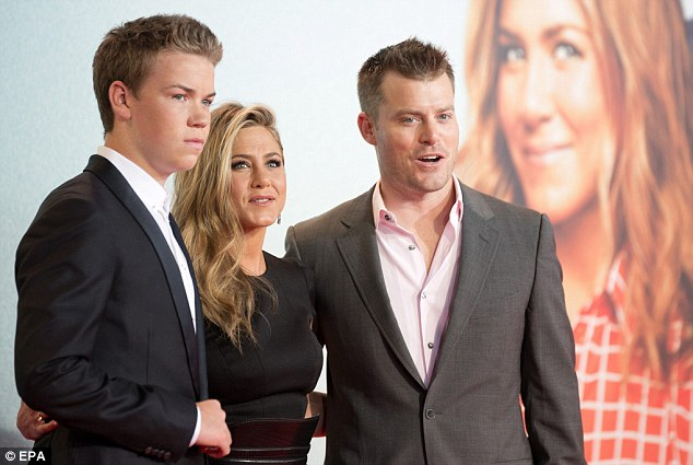 Jet-setting trio: Will, Jennifer and Rawson flew from London to Berlin to attend the German premiere of We're The Millers