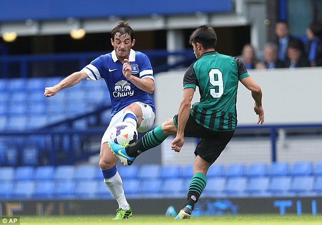 Responsibility: Leighton Baines will be a key player in Martinez's transition