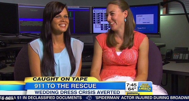 Something borrowed, something new: Amanda, left, and Candice, right, have become friends after the incident