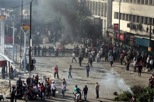 'Day of Rage': Hundreds have been reported injured and around have been 50 killed in today's protests in the Egyptian capital