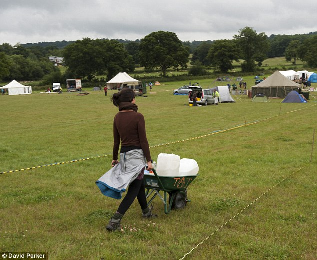 Upset: Climate camp protestors are setting up camp in a farmers field near to the fracking in West Sussex