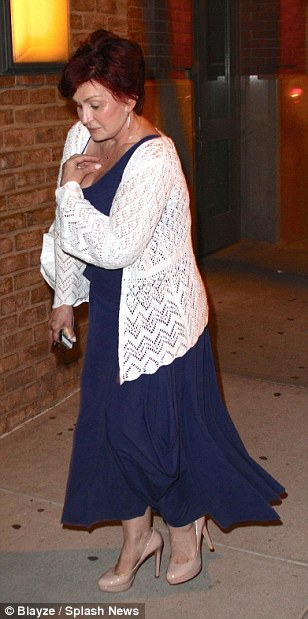 Fashionable: Sharon wore a stylish outfit for her date with Ozzy