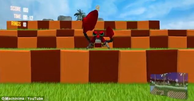 Fans of the platform game might risk motion sickness watching the video