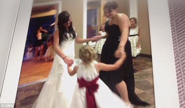 Disaster averted: Thiough it started off badly, Amanda's wedding day went perfectly