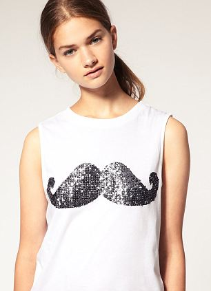 Girls can get involved too with charity moustache mercahndise