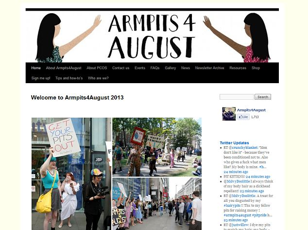 The Armpits4August website has full information on the initiative and upcoming events for part or full-time hairies