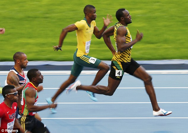 Strong favourite: Bolt won his semi-final with ease