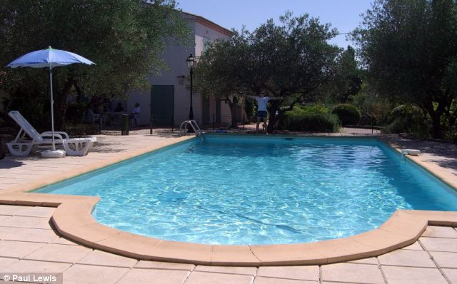The large pool is a welcome addition to the property