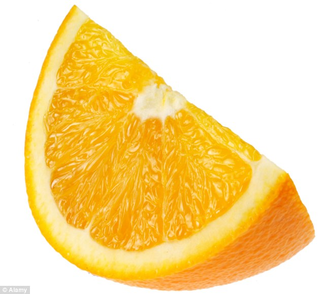 Juice boost: Men over 40 who follow a diet rich in Vitamin C, which can be found in citrus fruits, as well as Vitamin E, zinc and folate may increase their chance of fatherhood