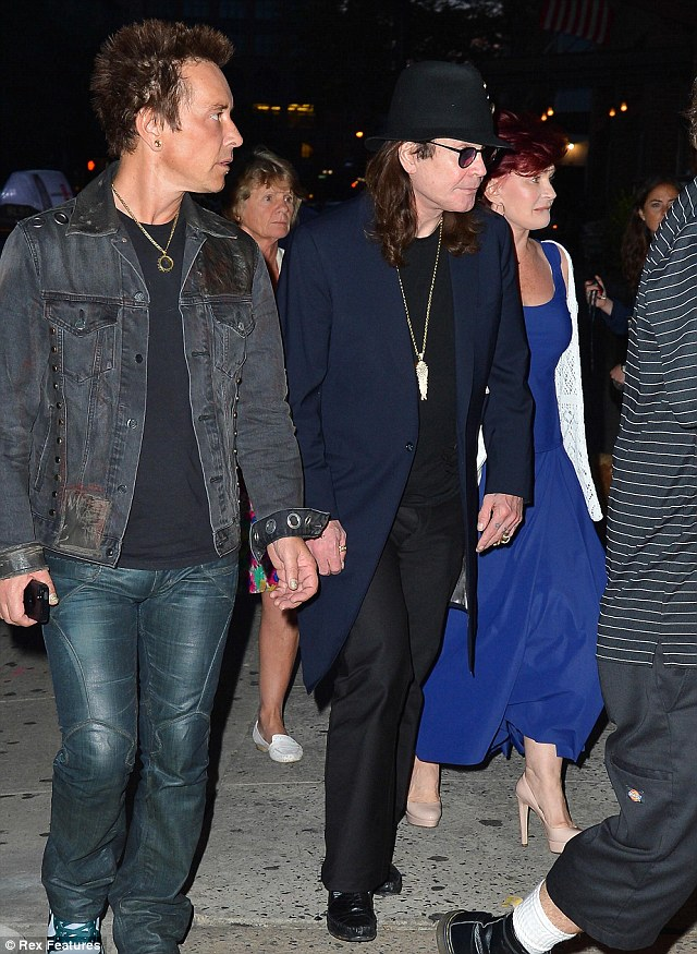 Night out: Ozzy and Sharon seemed to have a good time in New York