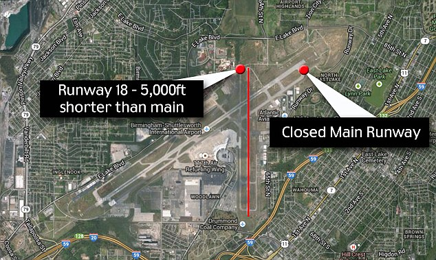Shorter runway: The UPS plane was attempting to land on runway 18 which is 5,000 ft shorter than the main runway which was closed for maintenance