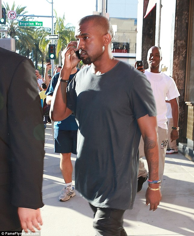 Good news: Kanye was pleased to hear he was not getting prosecuted