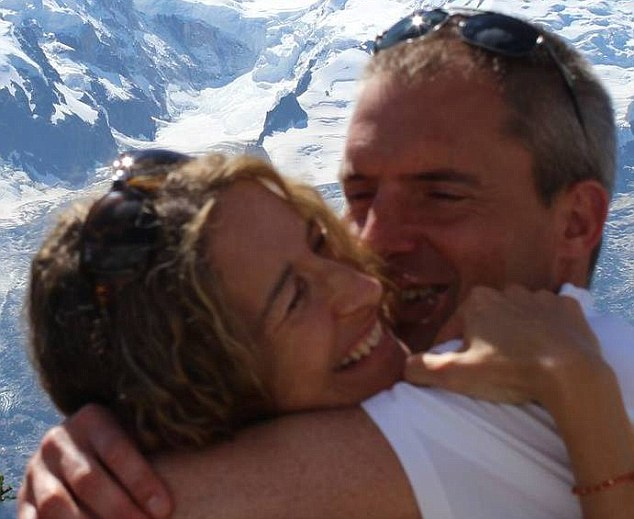 Loving: James Bond stuntman Mark Sutton and his girlfriend Victoria Homewood. She paid tribute to him after tragedy in the Alps