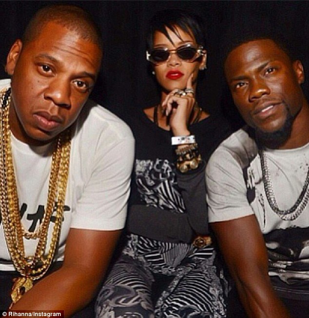 Protege: Jay was later joined by Rihanna and Kevin Hart at the nightclub