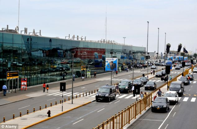 The pair were arrested at Lima's Jorge Chavez airport while trying to board a flight to Madrid