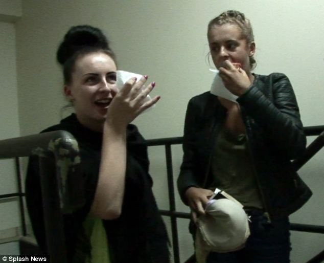 A taxi driver has said Melissa Reid and Michaella McCollum Connolly (pictured being held in Peru) did not seem anxious at the prospect of being forced to be drug mules