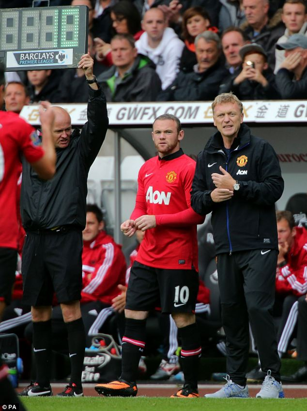 Sub: Rooney came on in the second half