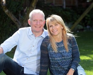 French leave: Adrian and Gill Shandley bought a home with a pool