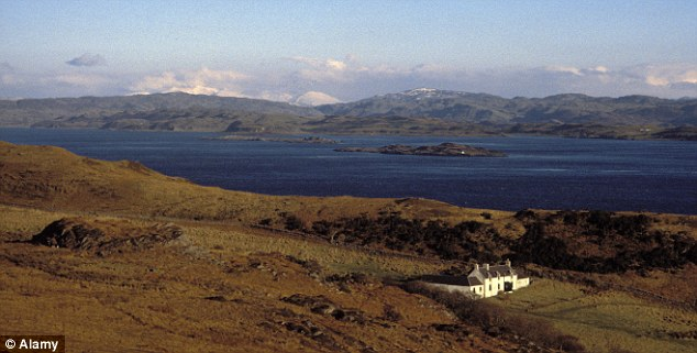 The picturesque island of Jura, where Samantha Cameron's stepfather owns a large estate