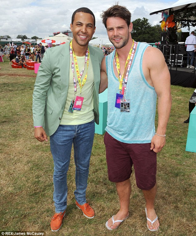Hang out buddies: Marvin and Ben have built up quite the friendship since marrying two of The Saturdays