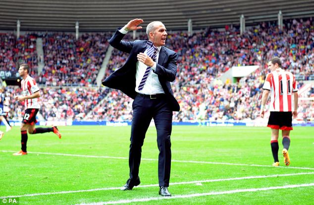 Frustrated: Di Canio saw his Sunderland side lose at home to Fulham
