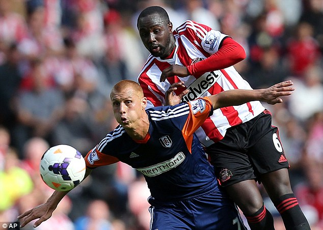 Good acquisition: Cabral was the most impressive of Sunderland's new signings on Saturday