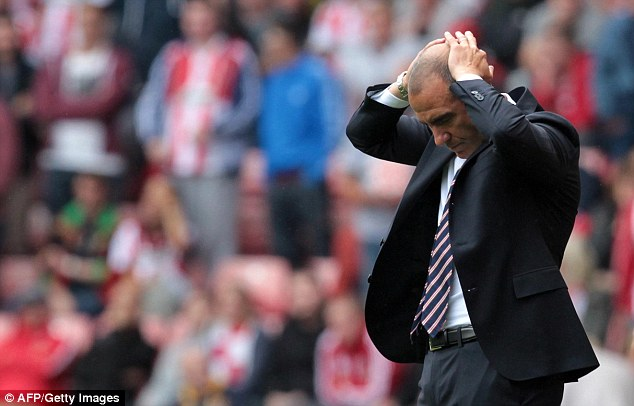 Needing improvements: It was a disappointing opening for Paolo Di Canio