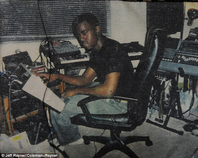 His home recording studio! The 36-year-old rapper, whose net worth is $100 million, had a modest middle-class upbringing in suburban Illinois