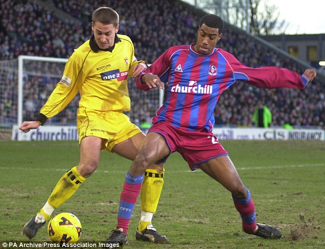 Making his name: Julian Gray stared at Arsenal before moving to Crystal Palace