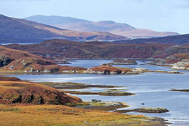 Magnificent: The view of Tarbert on Jura during a rare gap in the clouds