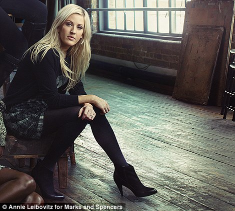 Posing princesses: Singer Ellie Goulding has just bagged her first UK number 1 and Tracey Emin is one of Britain's most successful female artists