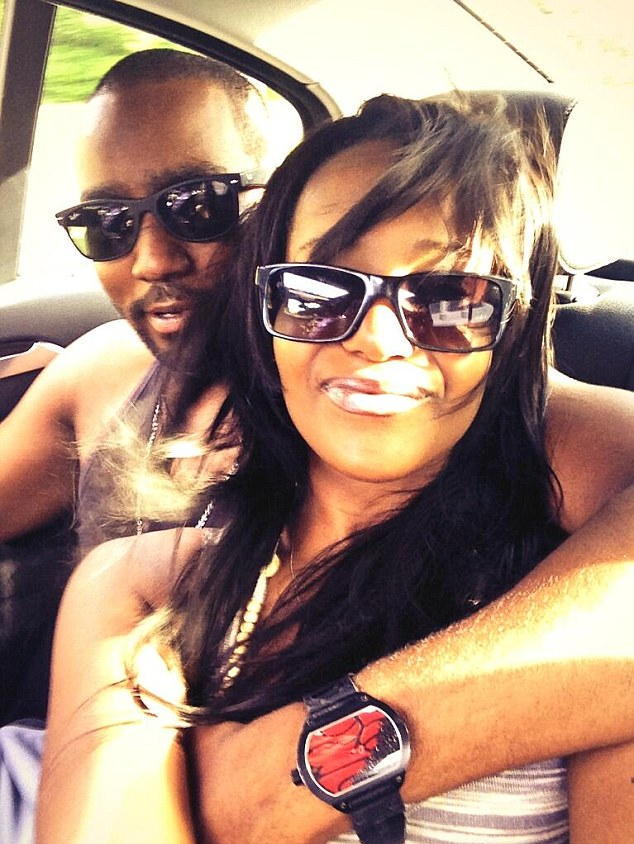 Brotherly love? Bobbi Kristina with her fiance and the man she grew up with, Nick Gordon