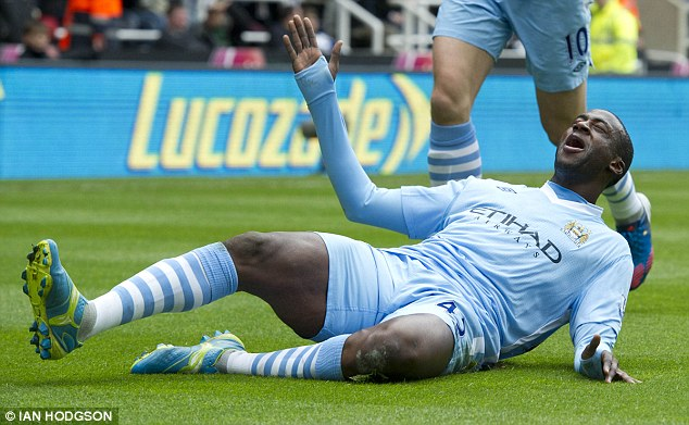 Danger man: Yaya Toure has scored in his last three matches against Newcastle United