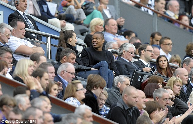 Watching brief: Remy saw the pre-season match against Braga from the stands at St James' Park